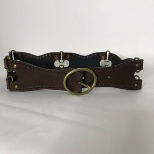 New Target Leather Belt Womens M Brown Tooled